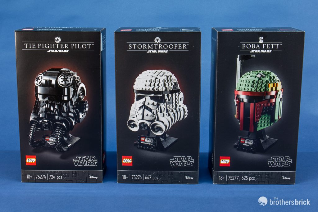 LEGO Star Wars Ultimate Collectors Helmets 75277 75276 75274 New In hand 3 sets