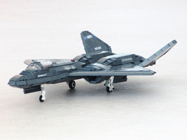 A shape unlike any other fighter: The Northrop YF-23   The Brothers Brick
