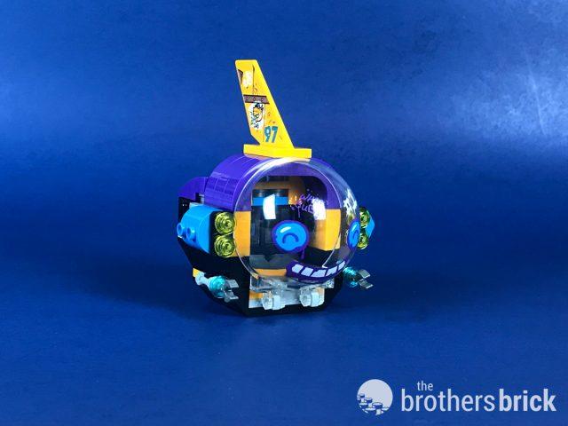 Lego version Guitare x 1 Dark Azur électrique motif