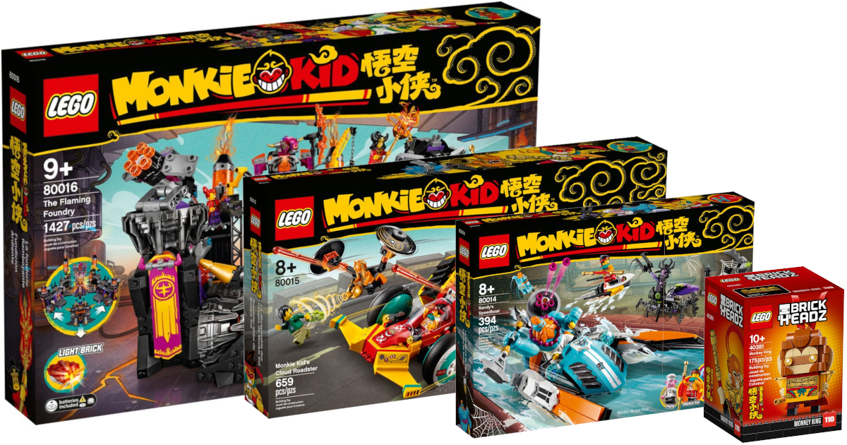LEGO Monkie Kid 80016 The Flaming Foundry New in Box
