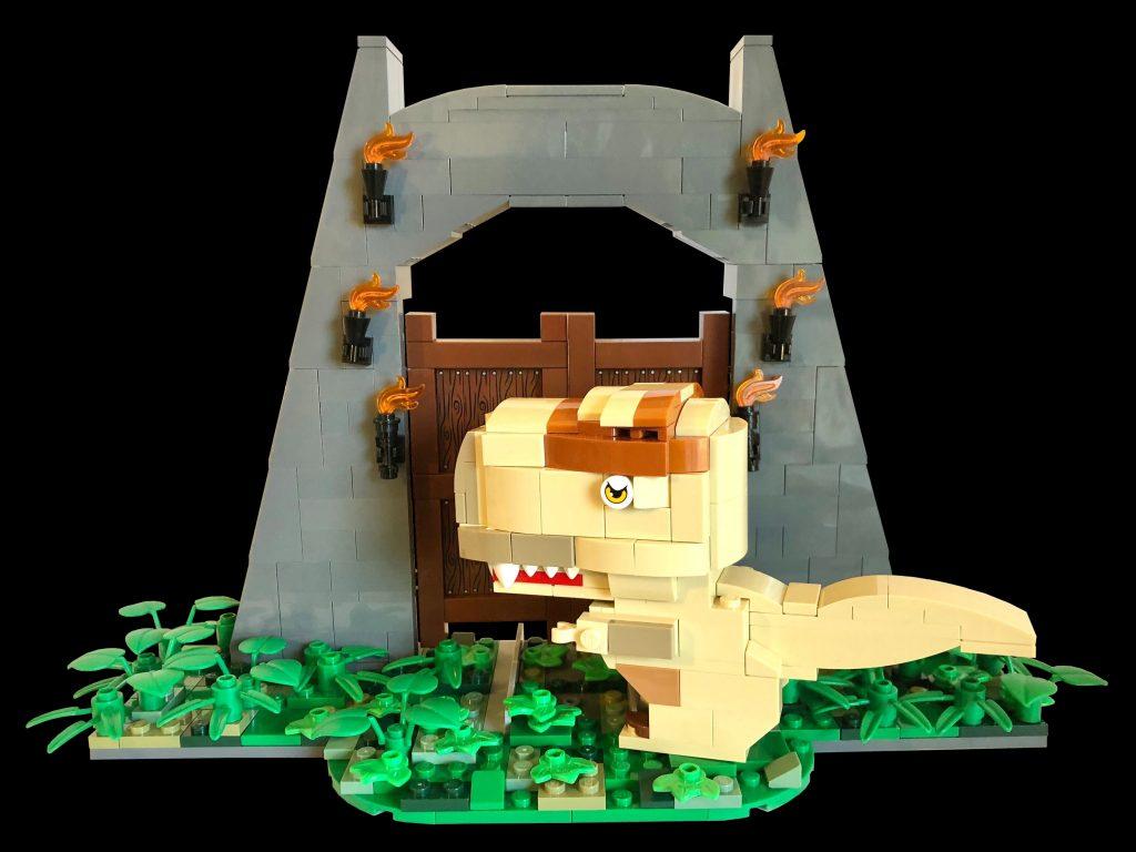 Build your very own BrickHeadz style T-Rex