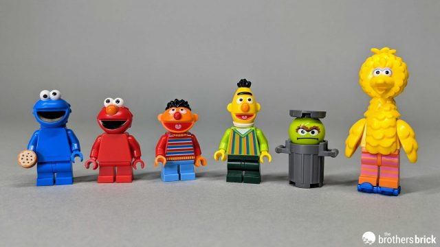 NEW Elmo And Bert Official Lego Sesame Street