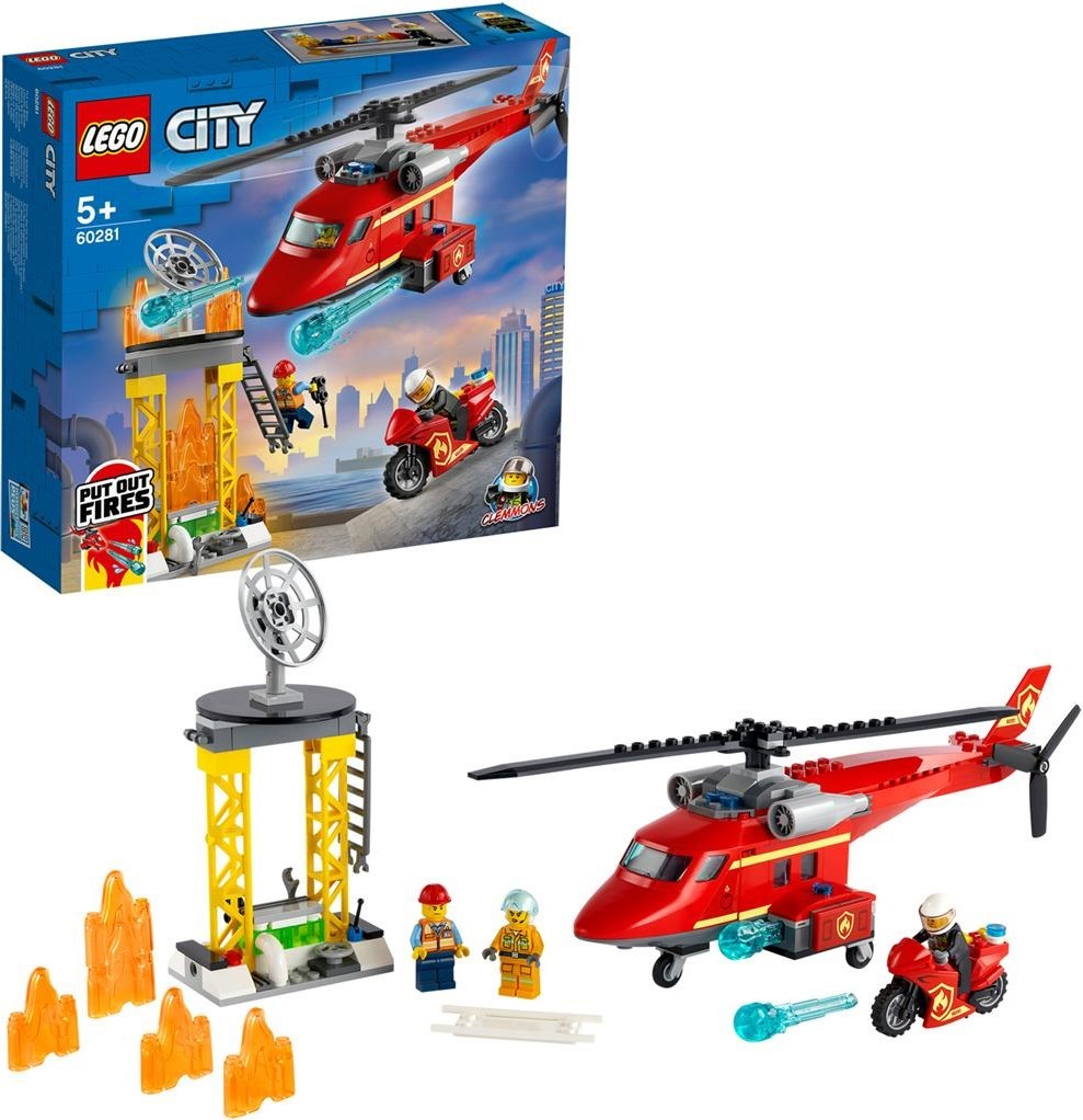 60281 City Fire Rescue Helicopter   The Brothers Brick ...