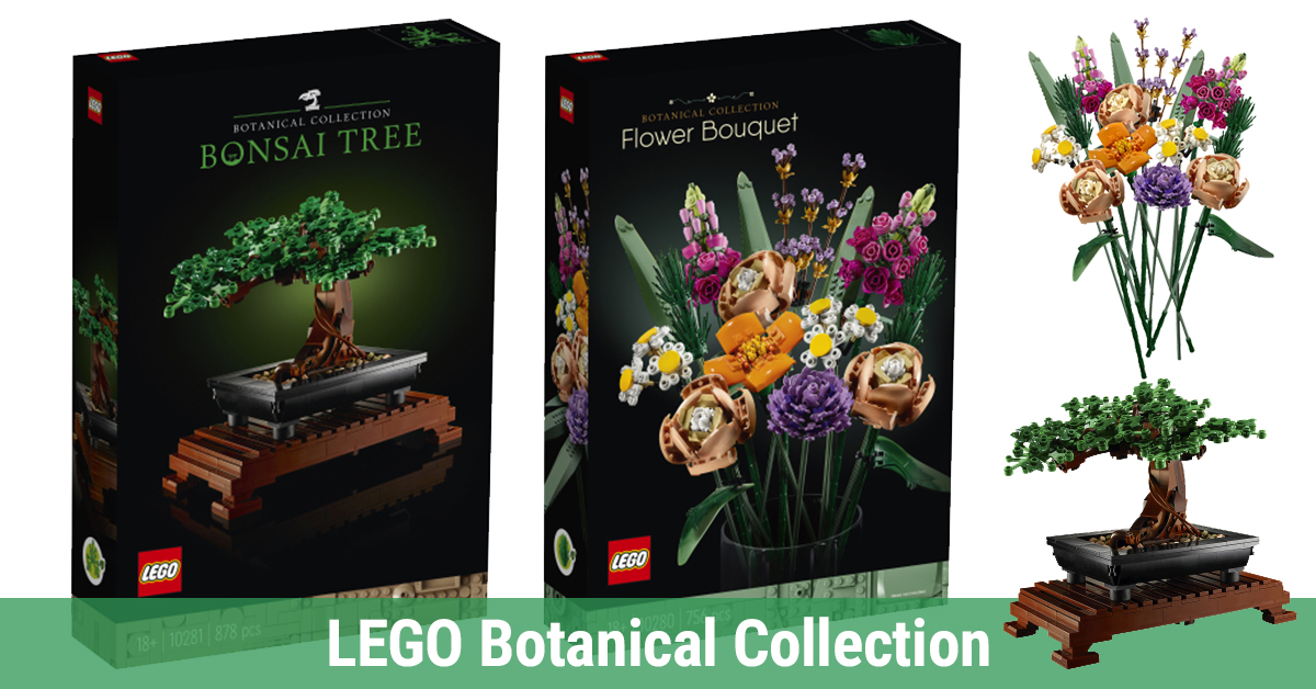 Lego Botanical Collection Unveiled With Captivating Bonsai Tree And Magnificent Flower Bouquet News The Brothers Brick The Brothers Brick