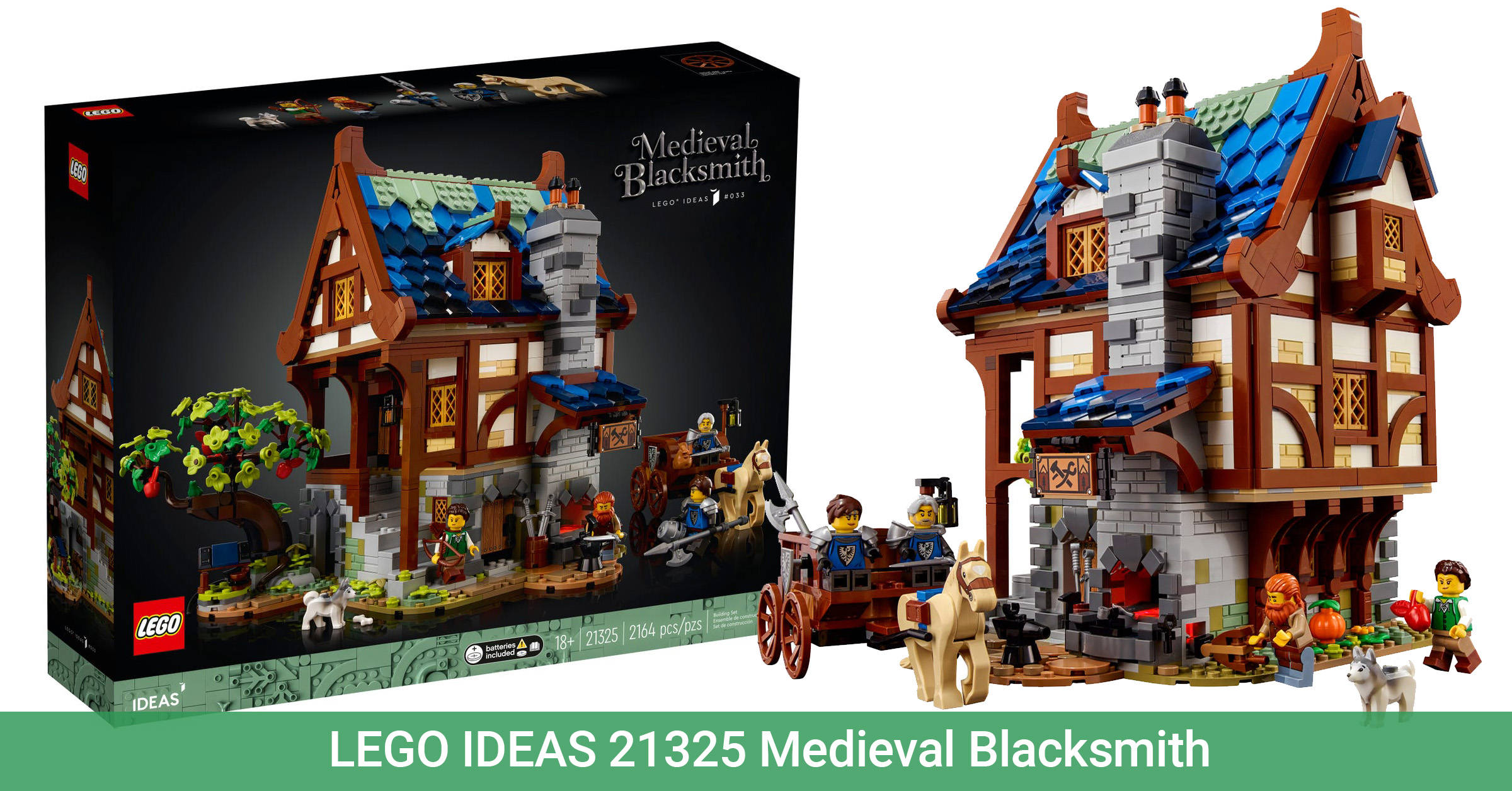 First official seem at the LEGO Tips 21325 Medieval Blacksmith [News] | The Brothers Brick