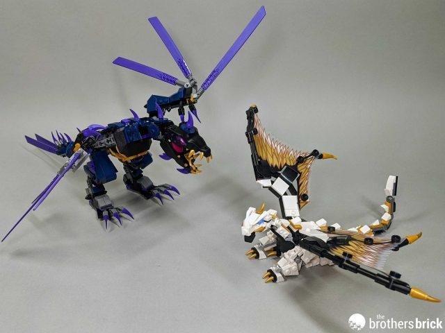 ninjago golden dragon vs overlord