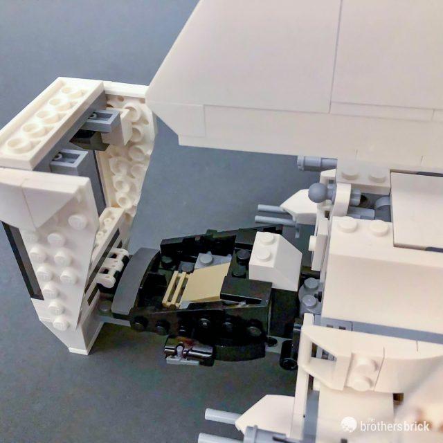 Angled cockpit