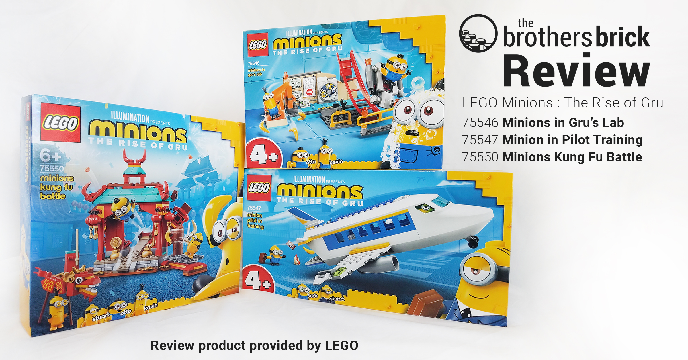 The Minions have arrived! LEGO Minions: The Rise of Gru 75546, 75547, and 75550 [Review] | The Brothers Brick