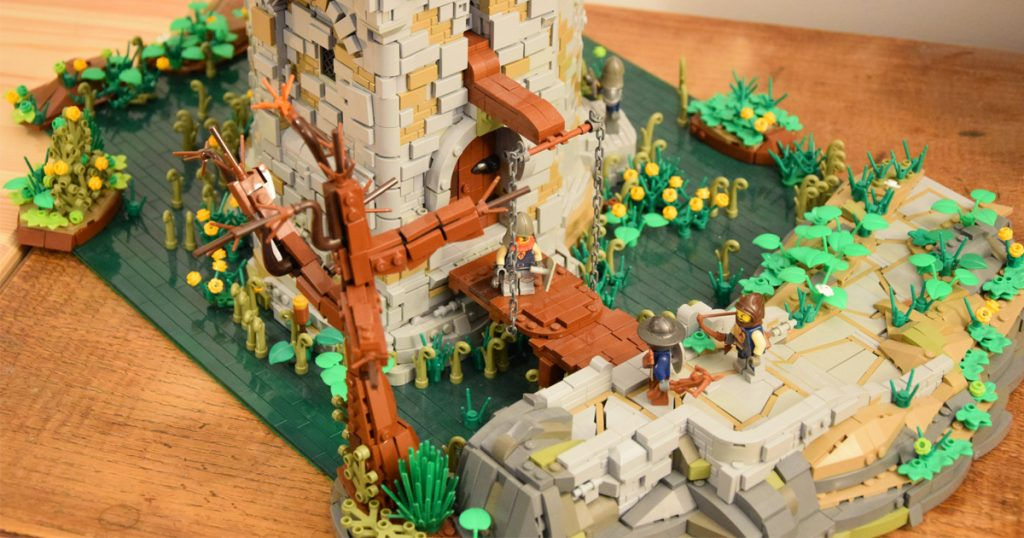 Be swept away to medieval times with Roger Cageot's LEGO castle tower creation. Knight in distress? Hunters returning after a day in the woods? You decide!