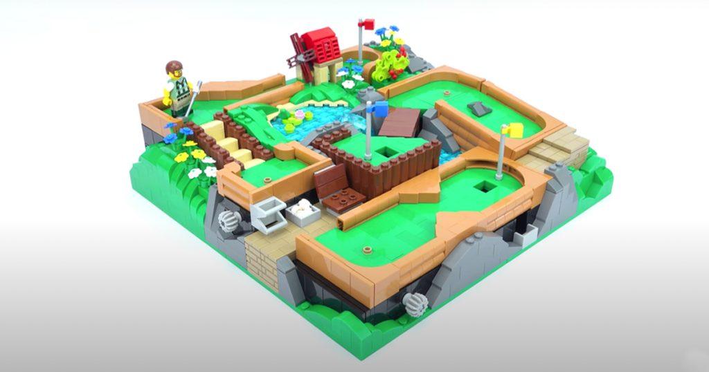 LEGOParadise's (@legoparadiseofficial) playable LEGO mini-golf course is engaging and creative.