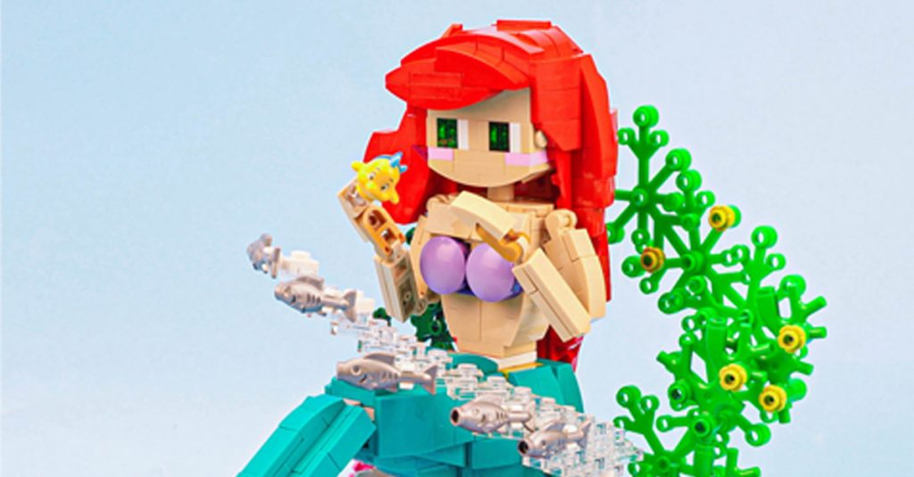 This LEGO mermaid from @acghow is full of character and vibrant colors.