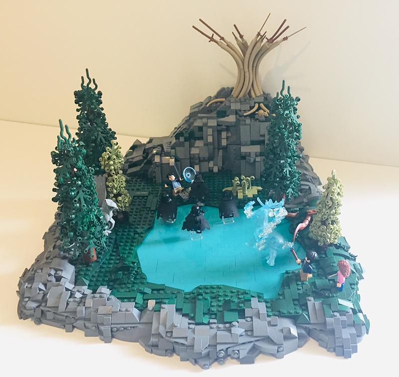 Harry Potter LEGO build.