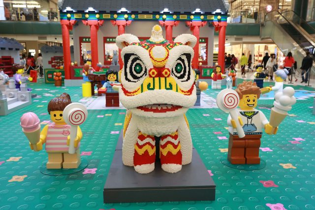 Hong Kong welcomes the Lunar New Year with a LEGO showcase