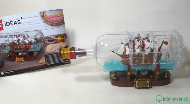 LEGO 21313 Ship in a Bottle completed set