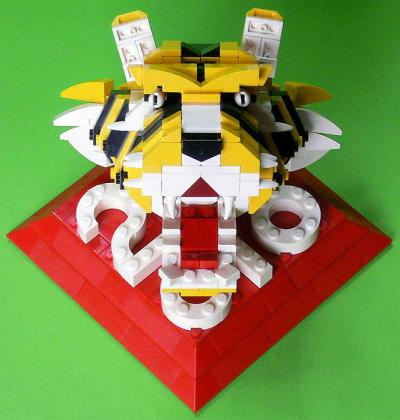 LEGO 2010 tiger bust