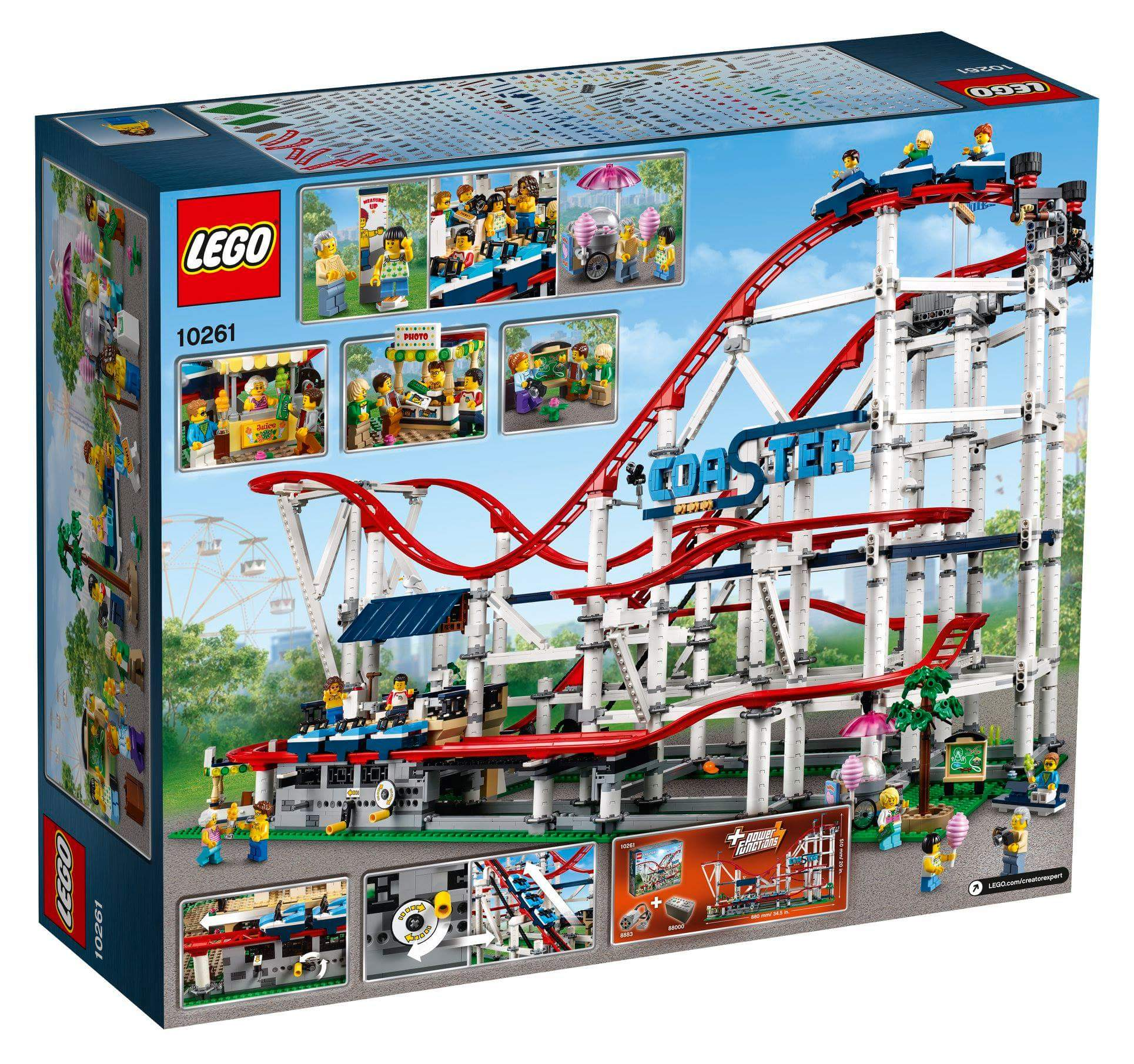 10261 Lego Creator Expert Roller Coaster Box Rear The Brothers