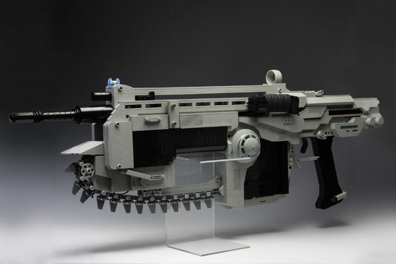 LEGO Gears of War Lancer Assault Rifle