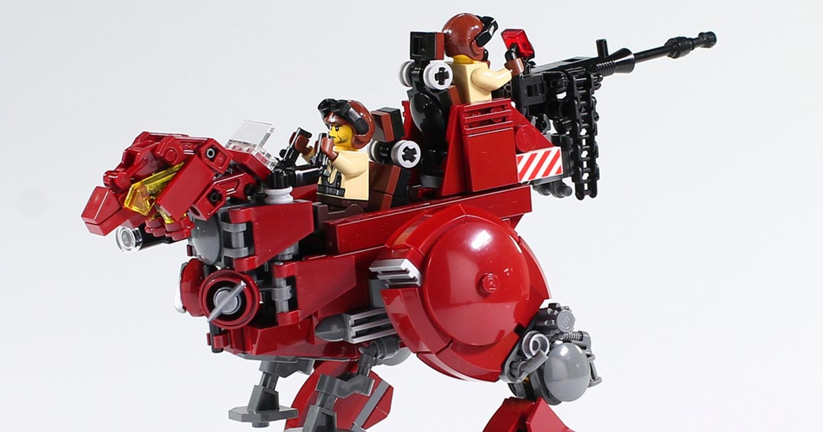 Ravage your rivals in this red robotic raptor | The Brothers Brick