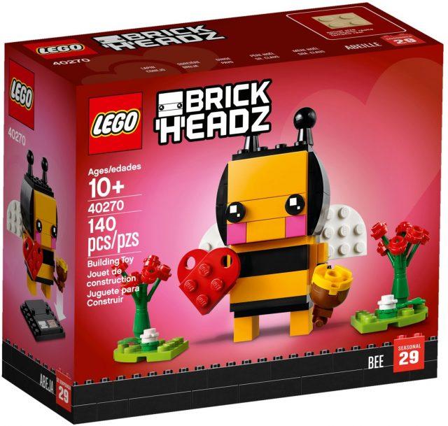 40270 Valentine's Bee BrickHeadz box front