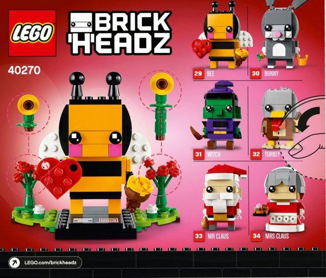 40270 Valentine's Bee BrickHeadz box back