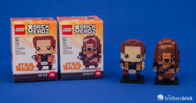 Lego Brickheadz From Solo A Star Wars Story 41608 41609 Han