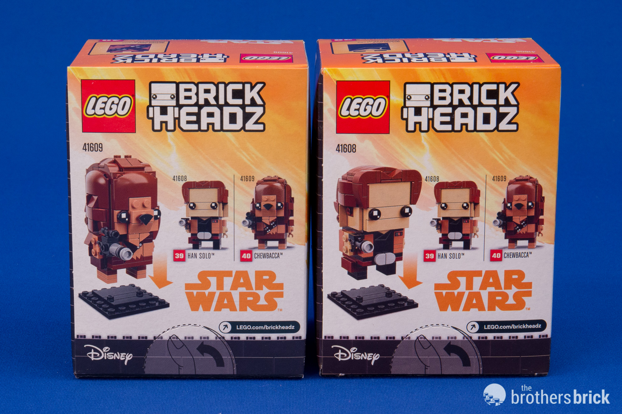 LEGO 41608 Star Wars BrickHeadz Han Solo Disney New