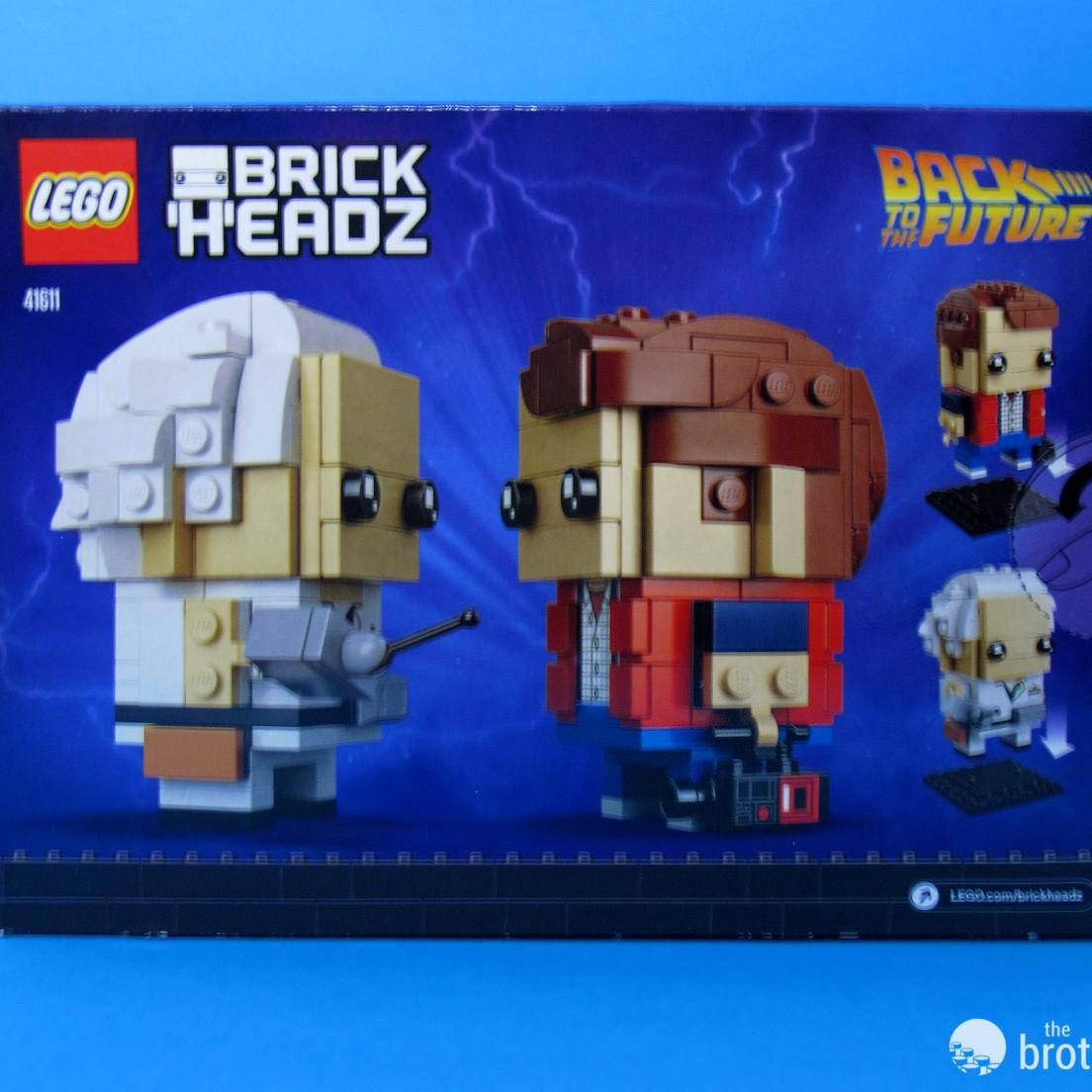 41611 Back To the Future BrickHeadz Box Back