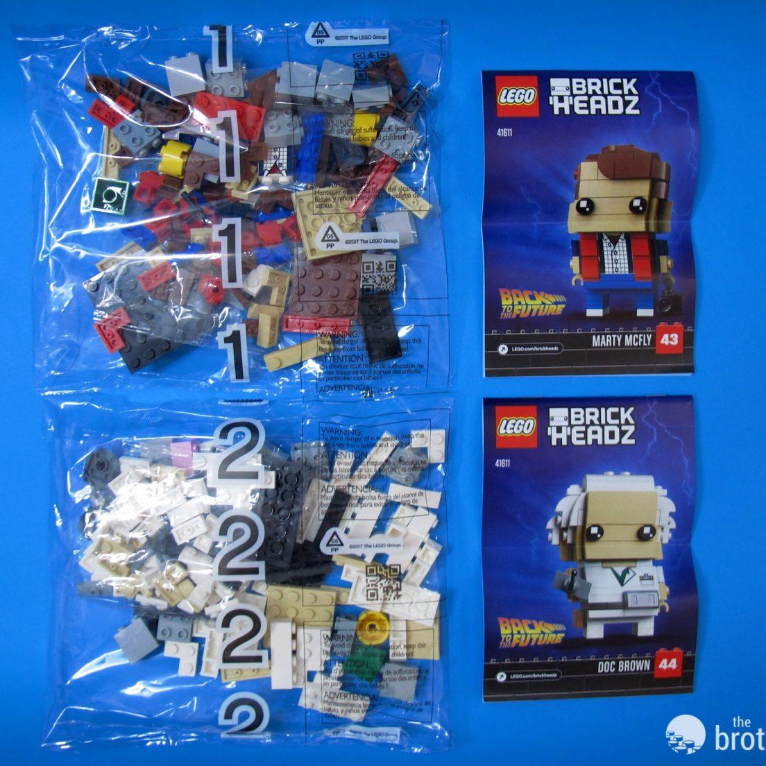41611 Back To the Future BrickHeadz Box Contents