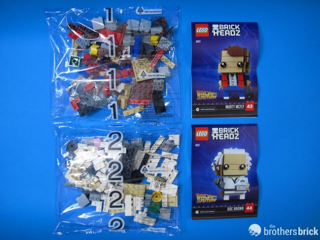 41611 Back To the Future BrickHeadz Box Contents