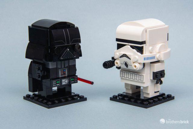 Lego Star Wars Brickheadz 41619 Darth Vader And 41620 Stormtrooper