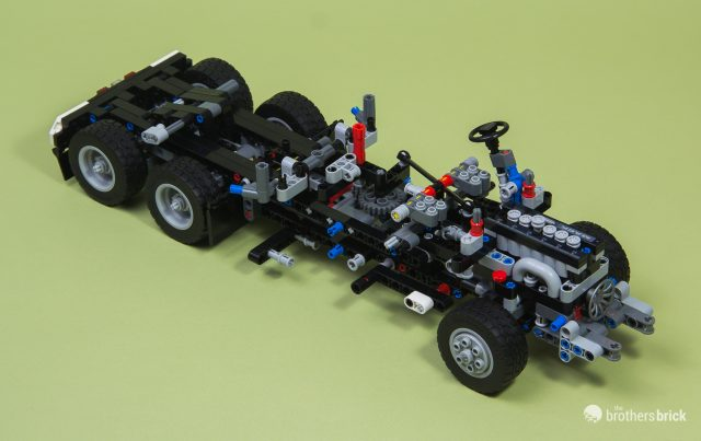 The Mack Anthem semi truck roars to life with LEGO Technic