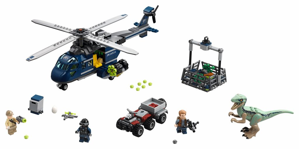 LEGO Jurassic World 75928 Blue's Helicopter Pursuit - full set