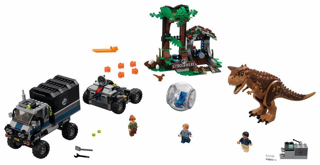 LEGO Jurassic World 75929 Carnotaurus Gyrosphere Escape - full set