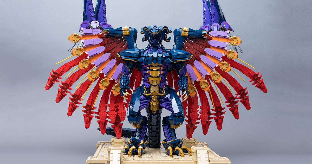The Dragon King reigns supreme: this amazing LEGO model of Final Fantasy X's Bahamut uses over 10,000 pieces | The Brothers Brick