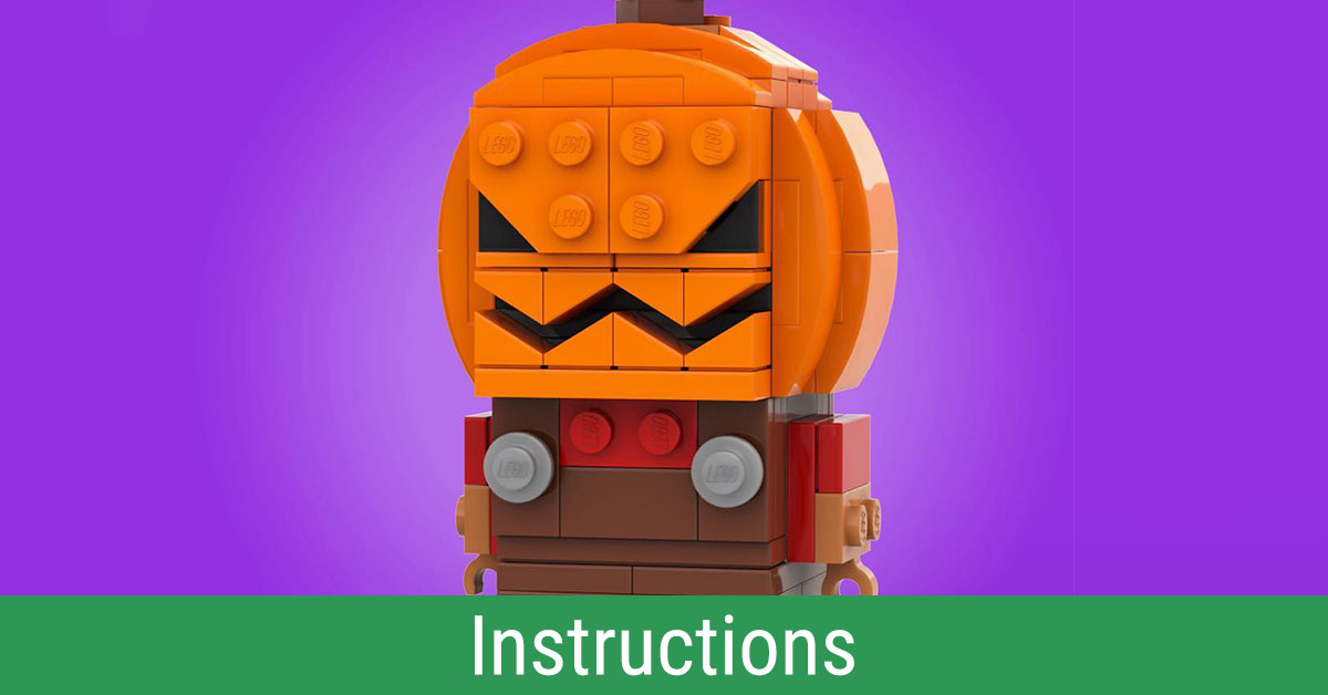 Build your very own BrickHeadz Brick-o'-Lantern with LEGO