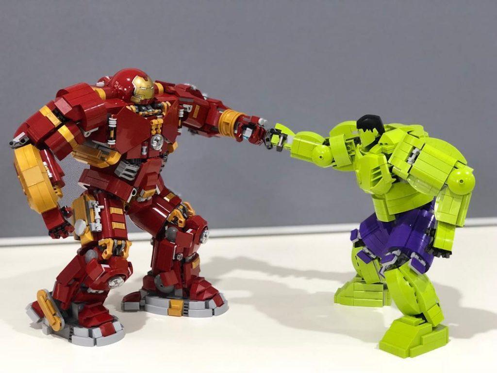 Hulk Buster and Hulk Fight