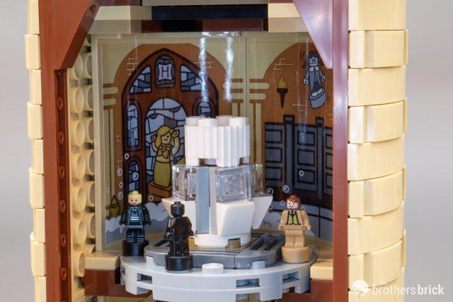 Lego Tan Castle Wall With Window Hole Angled Corner