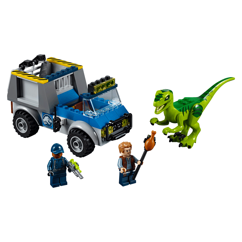 LEGO Jurassic World-10757-Juniors Raptor Rescue Truck-2