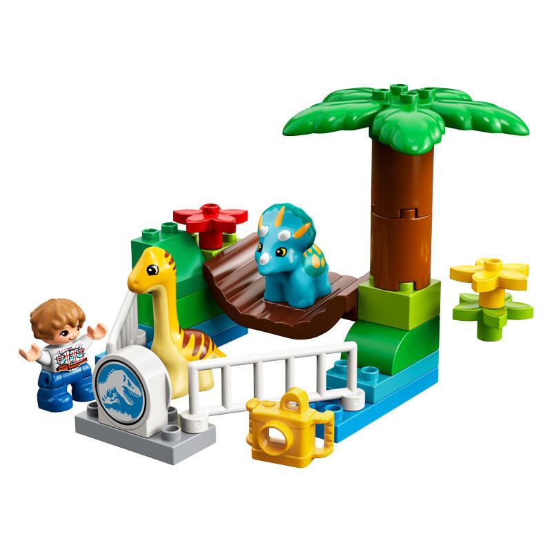 LEGO Jurassic World 10879-Duplo Gentle Giants Petting Zoo-2