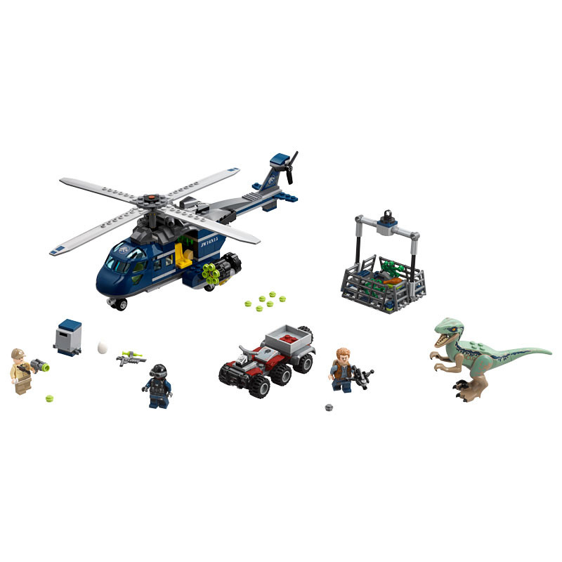 LEGO Jurassic World-75928-Blue's Helicopter Pursuit 2