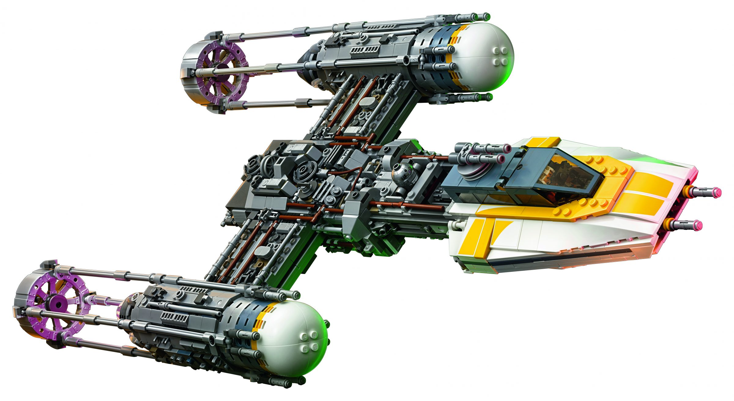 Lego Star Wars Ucs 75181 Y Wing Starfighter Front View The