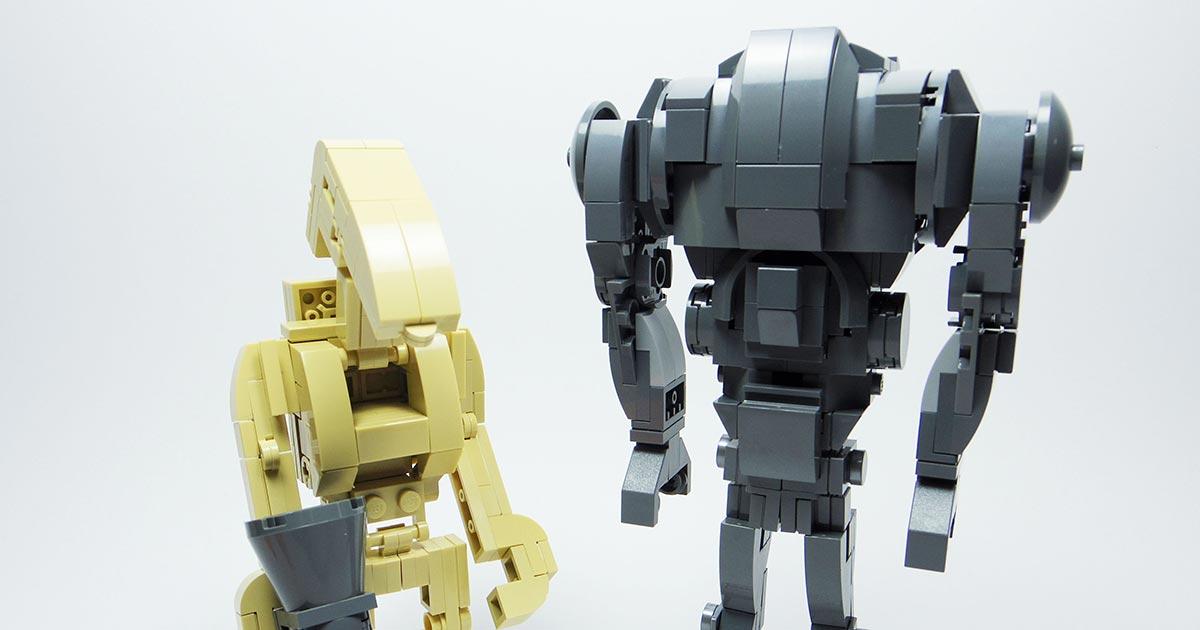 SUPER BATTLE DROID /& BATTLE DROIDS Lot of 3 Lego Star Wars Minifigures