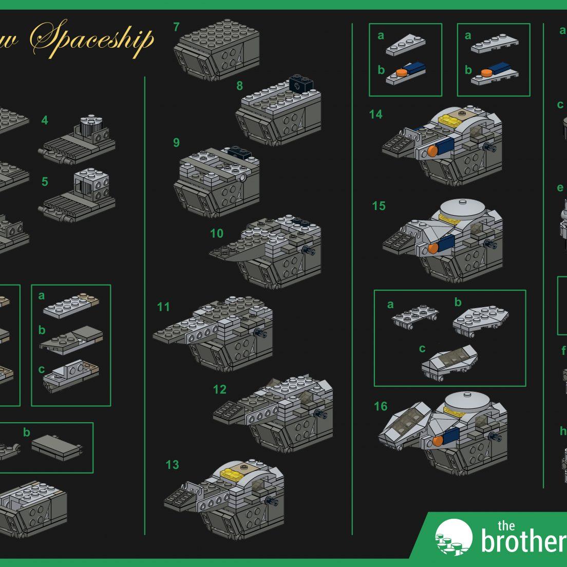 Custom LEGO Outlaw Spaceship instructions (1)