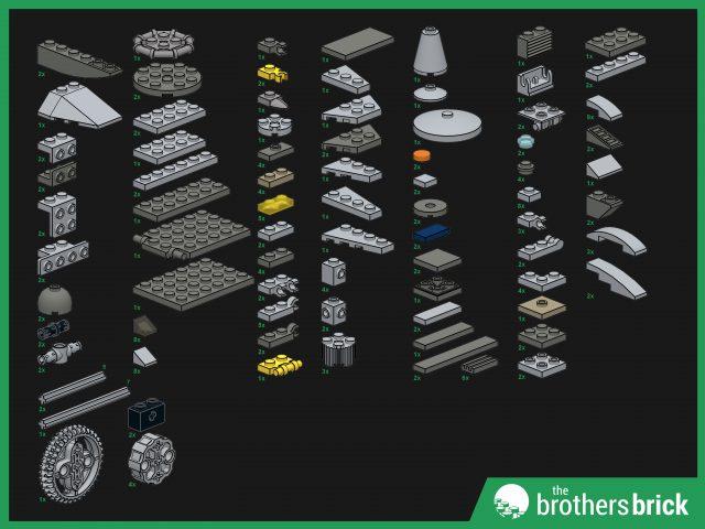 Custom LEGO Outlaw Spaceship parts list