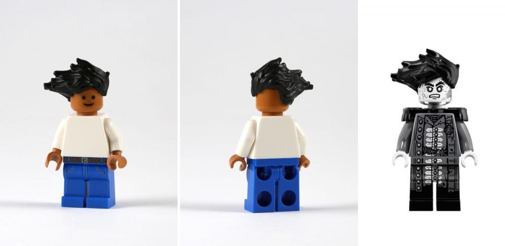 LEGO 6 Minifigure  Short Mens Boys Male Hair Wig Brown Grey Black Tan /& More
