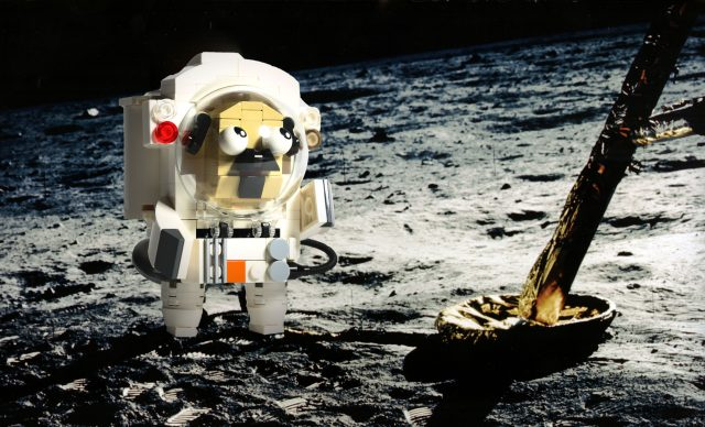 Pug astronaut on the moon (built by 鄭 仲恆)