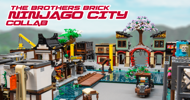 Building Ninjago City The Brothers Brick Open Collaboration