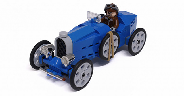 Build your own vintage Bugatti from LEGO [Instructions] | The