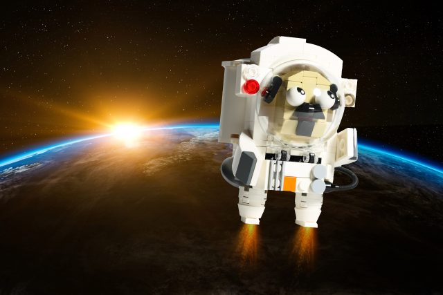 Pug astronaut in space (built by 鄭 仲恆)
