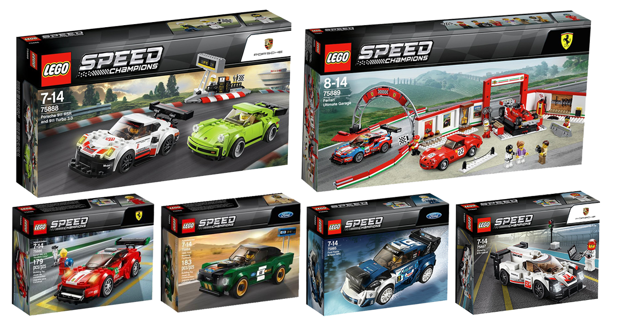 LEGO Speed Champions 2018 wave 1 sets